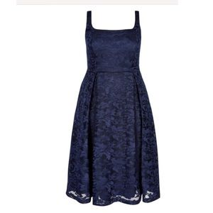 City Chic Jackie O Dress-Navy